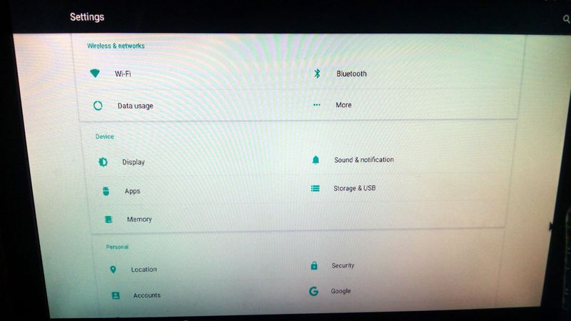 Probox2 Air native Android settings.