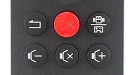 Remote+ change modes button.