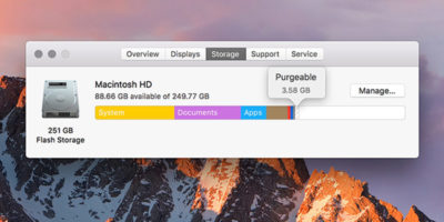 Understanding macOS Sierra's Purgeable Space and How to Use It to Optimize Your Hard Drive Space