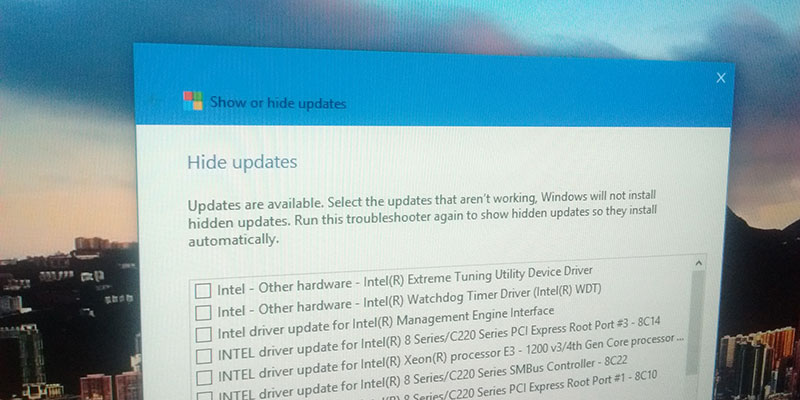 how to stop driver updates windows 10