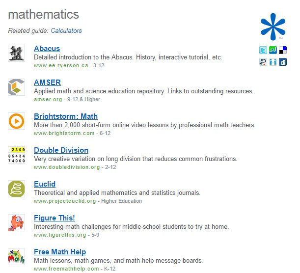 educational-search-refseek-mathematics-tools