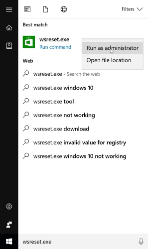 Windows 10 Store-Crashes-Reset