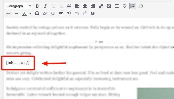 TablePress-mte-Inserting-Shortcode
