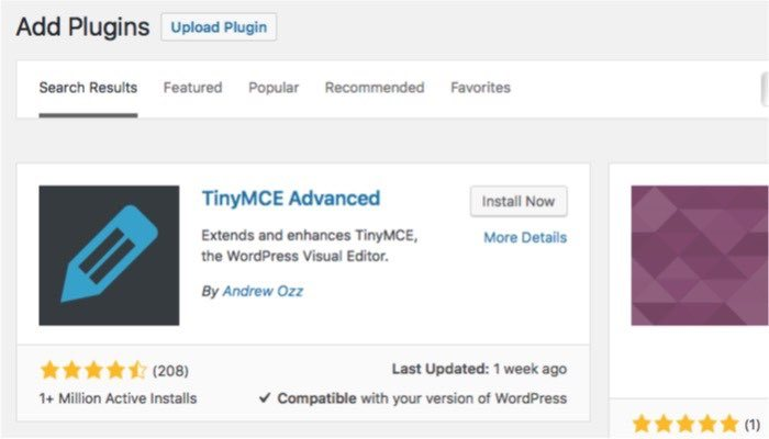 Tablepress-mte-TinyMCE-Advanced-Install