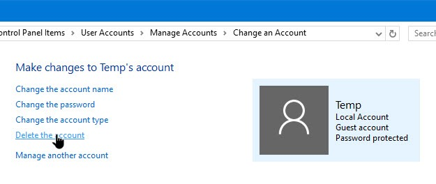 create-guest-account-win10-delete-guest-account