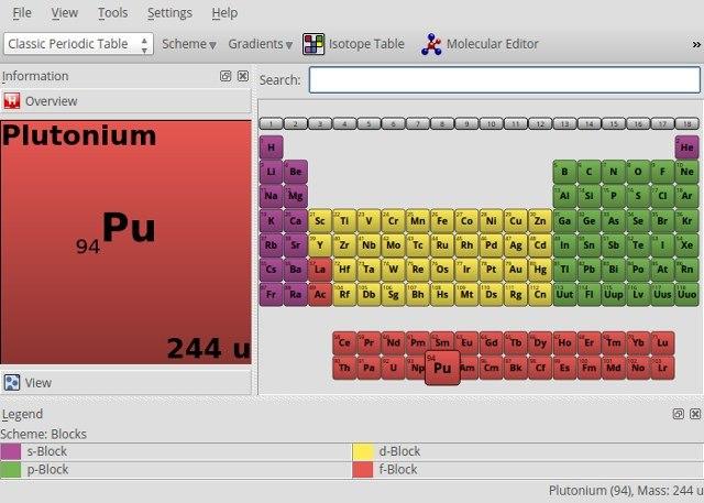 linux-education-kalzium