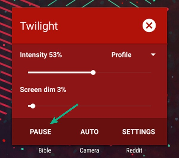 android how to change screen overlay