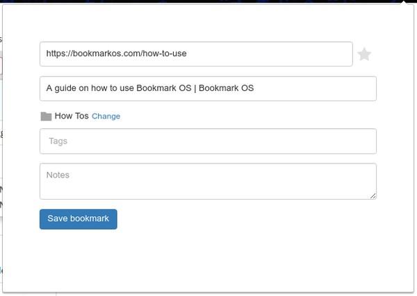 Bookmark OS Chrome extension.