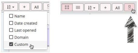 Bookmark OS Custom sort feature.