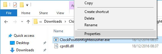 move-clock-win10-select-properties