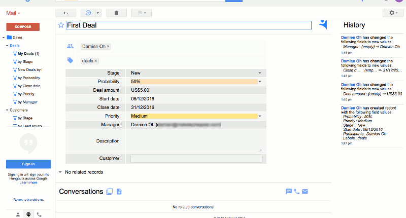 nethunt-crm-add-first-record