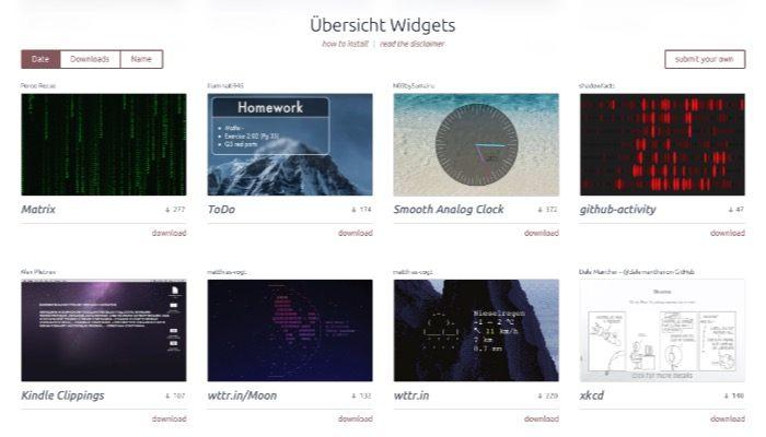 ubersicht-mte-widget-page