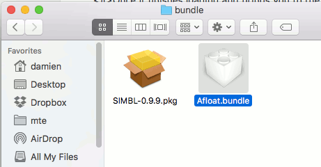 afloat-bundle-folder