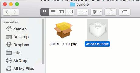 afloat-bundle-folder