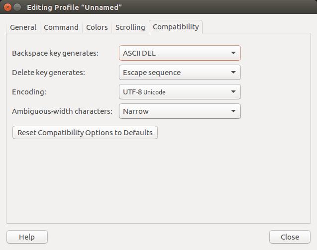command-line-terminal-edit-preferences-menu-compatibility-tab