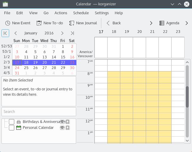 linux-calendar-korganizer