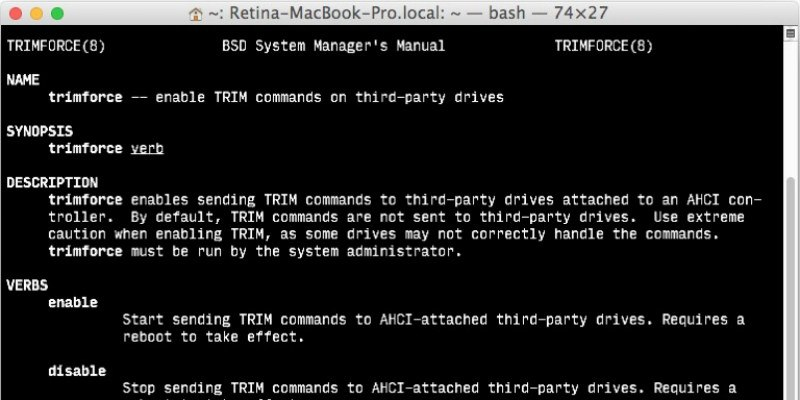 How to Enable TRIM for 3rd Party SSDs on Mac - Make Tech ...