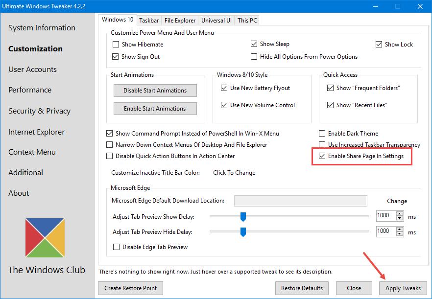 win10-enable-hidden-settings-page-apply-tweaks