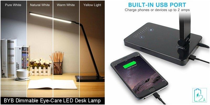 BYB Dimmable EyeCare LED Desk Lamp Review Make Tech Easier – Led Desk Lamps Reviews