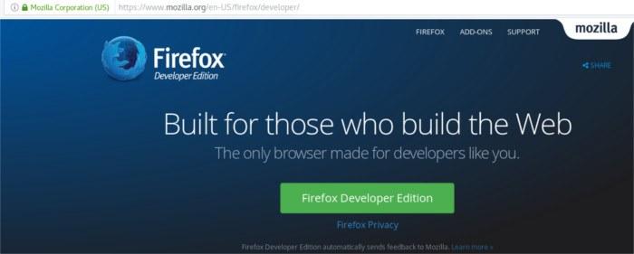 firefox-developer-download-page