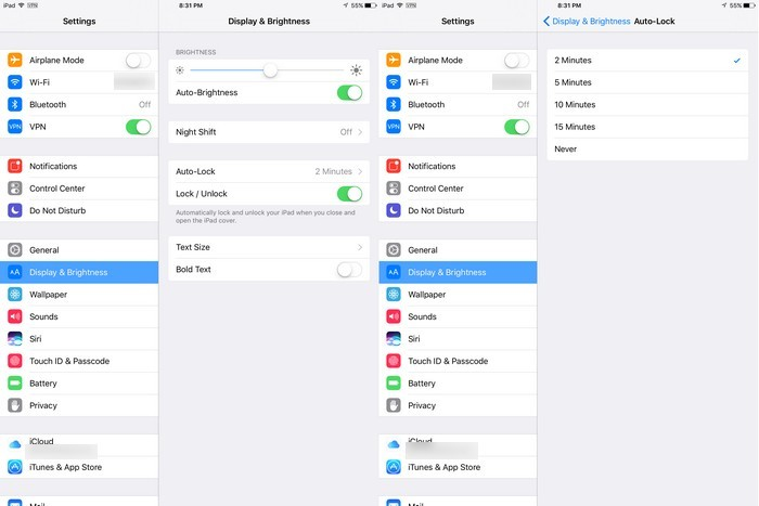 iPad-Autolock