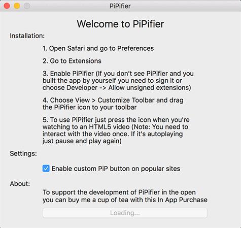 pipifier-startup-screen
