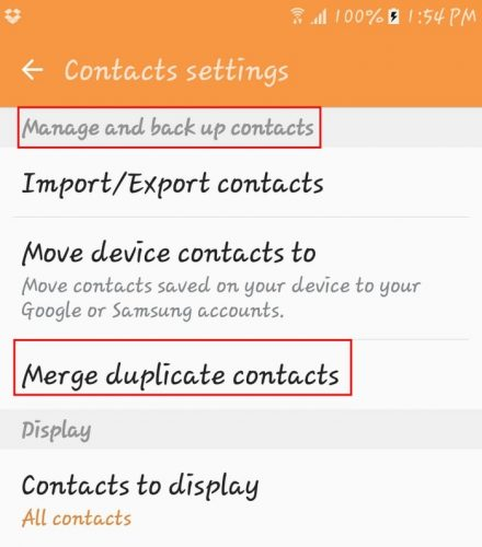 Contacts-Merge