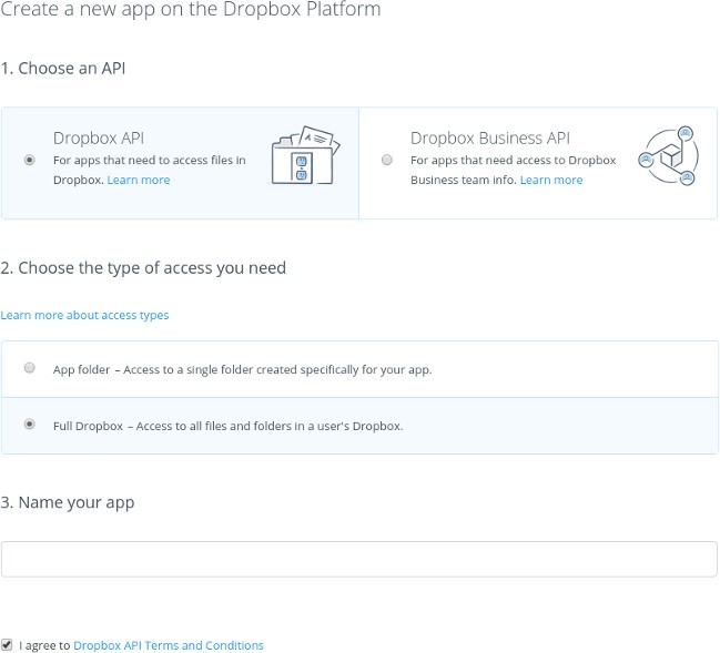 automatic-backup-create-dropbox-app