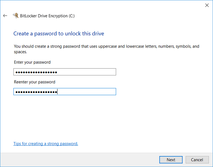 bitlocker-set-password