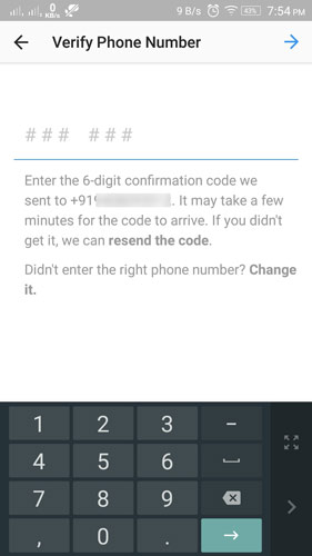 instagram-recieve-confirmation-code