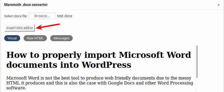 ms-word-to-wordpress-mammoth-usage