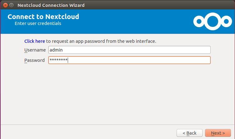nextcloud-login-to-sync-client