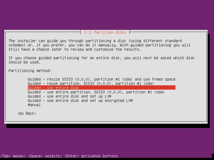 nextcloud-ubuntu-server-select-partition-setup