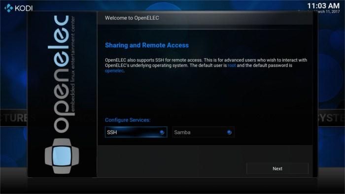 openelec-sharing-setup