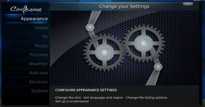 openelec-system-settings