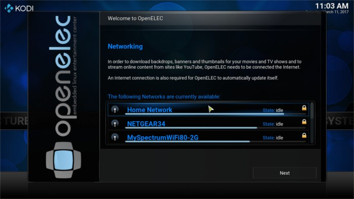 openelec-wireless-network-setup