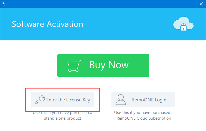 remo-data-recovery-select-license-key-option