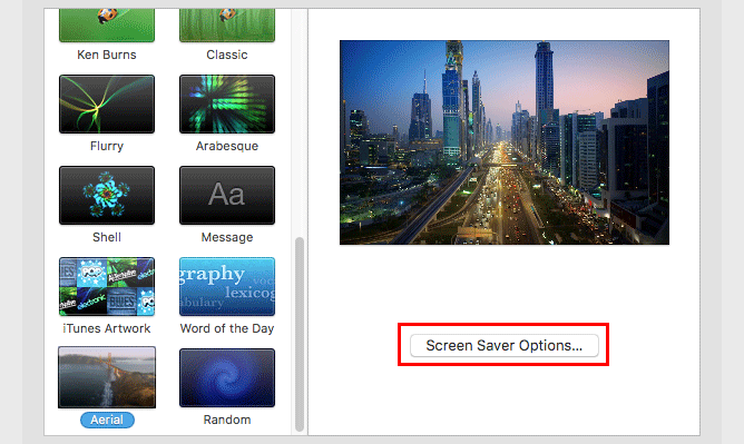 aerial-screen-saver-options