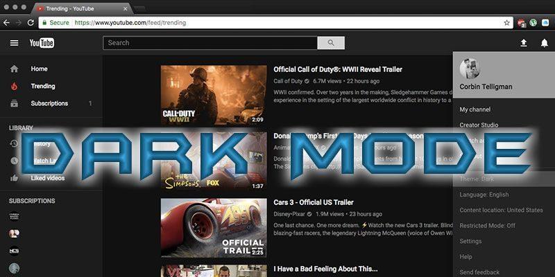 How to Enable the Hidden YouTube Dark Mode - Make Tech Easier