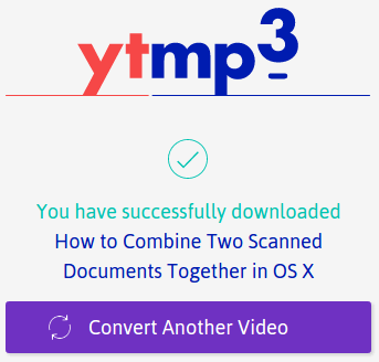After the download is done you can use YTmp3 to convert another youtube video to a mp3 high quality file