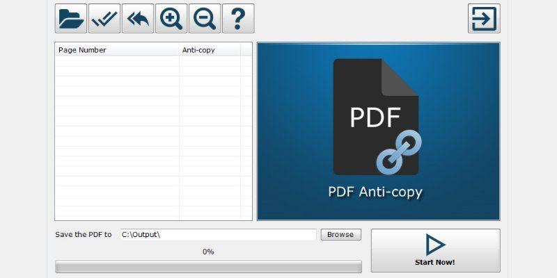 PDF Anti-Copy Screenshot