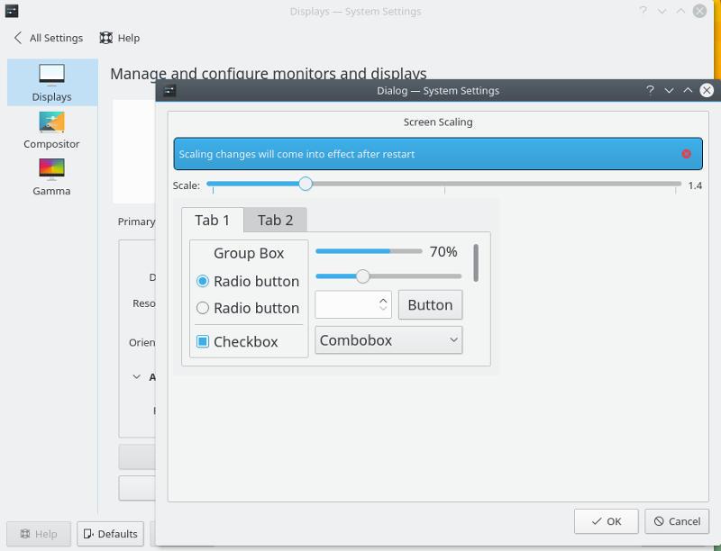HiDPI KDE Scaling