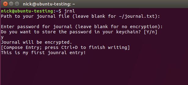 jrnl Journal Linux