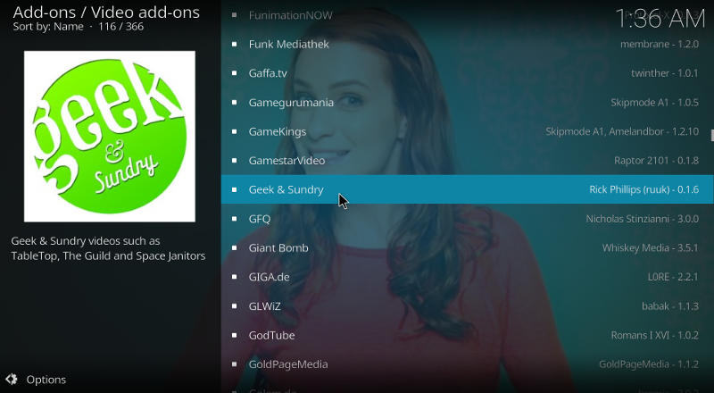 Kodi Geek & Sundry Add-on