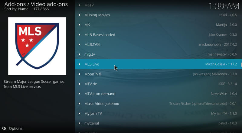 Kodi MLS Add-on