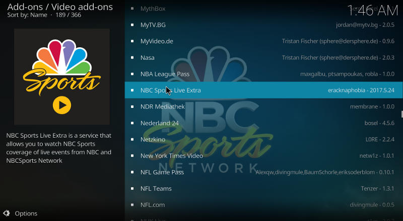 Kodi NBC Add-on