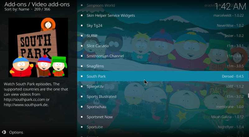 Kodi South Park Add-on