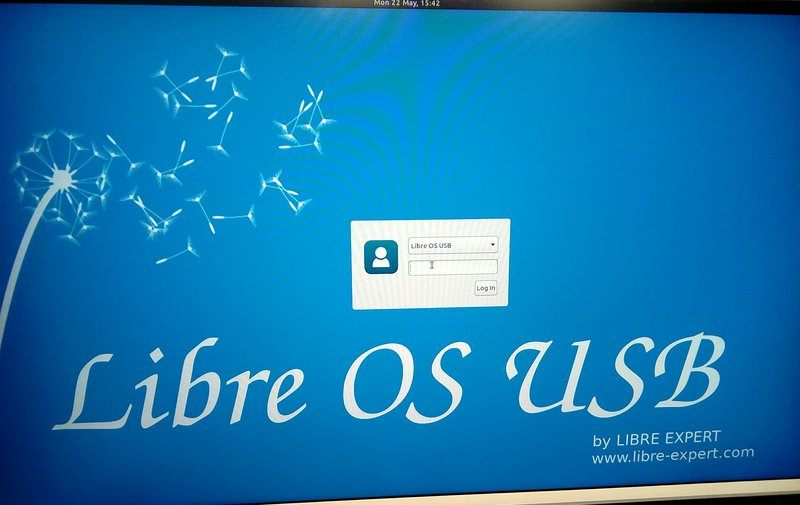 libre-os-usb-login