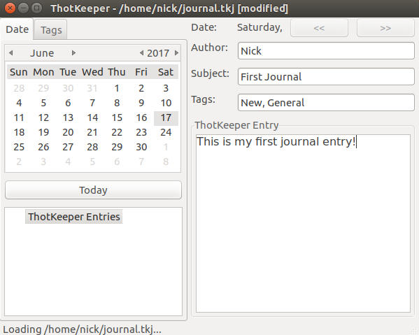 Thotkeeper Journal Linux