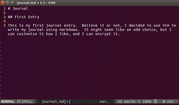Vim Journal Linux
